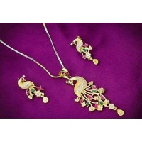 Trendy Alloy pendant peacock Set